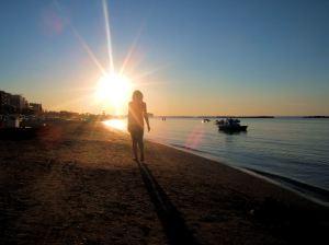 Walking In Sunset